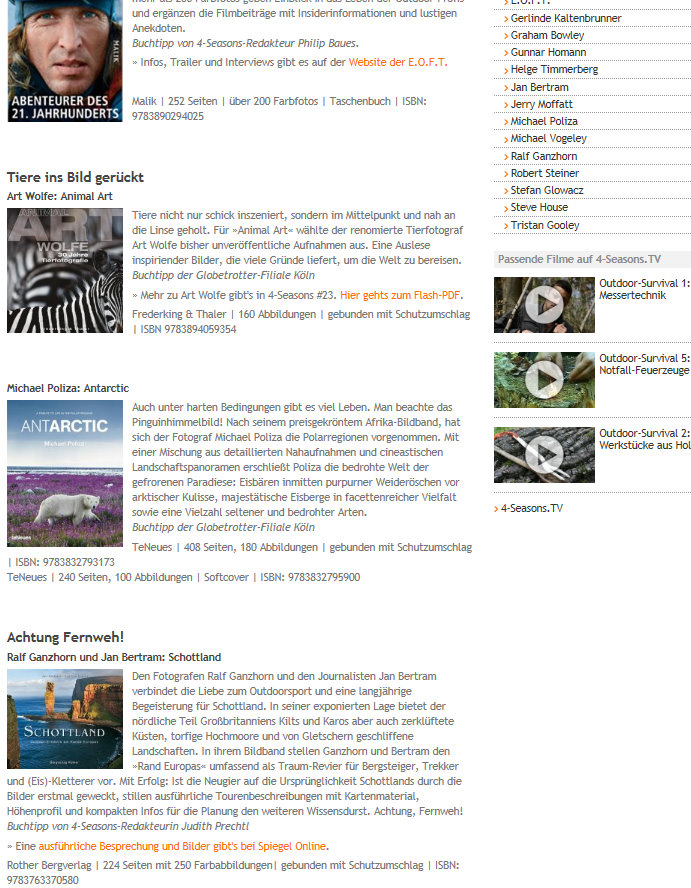 4-Seasons Portal für Globetrotter