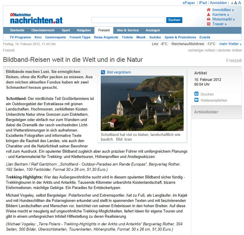 Nachrichten.at über Bertram/Gantzhorn: Schottland