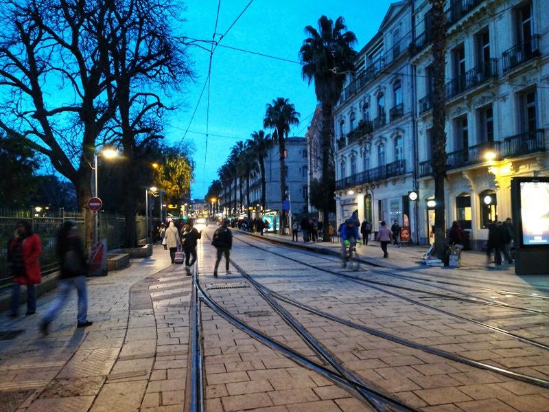 Abendstimmung Montpellier